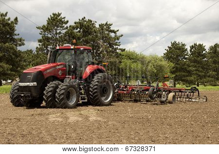 Tractor And Disk Harrow