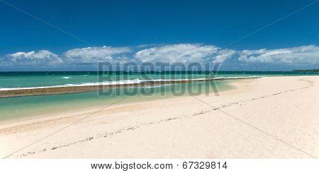 Beautiful Empty Beach On Hawaii