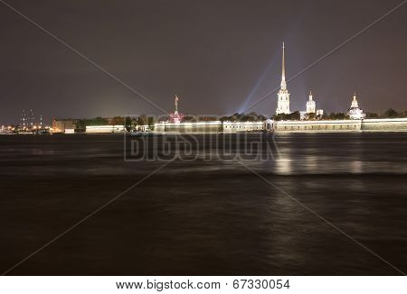 Peter's And Paul Fortress Night View