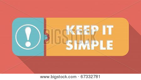 Keep It Simple Concept in Flat Design.