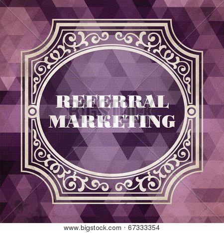 Referral Marketing Vintage Design Concept.
