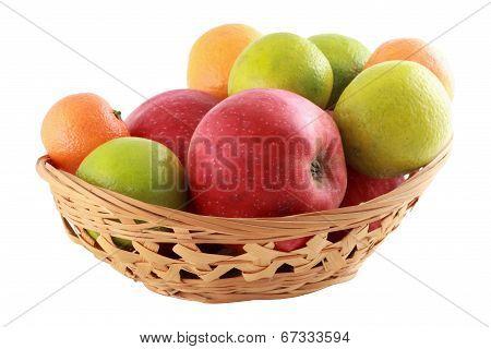 Coloured Fruit In Basket