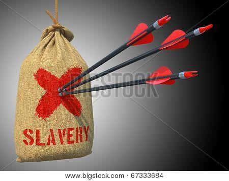 Slavery - Arrows Hit in Red Mark Target.