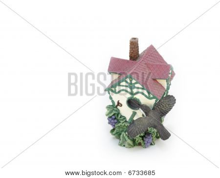 Birdhouse Figurine