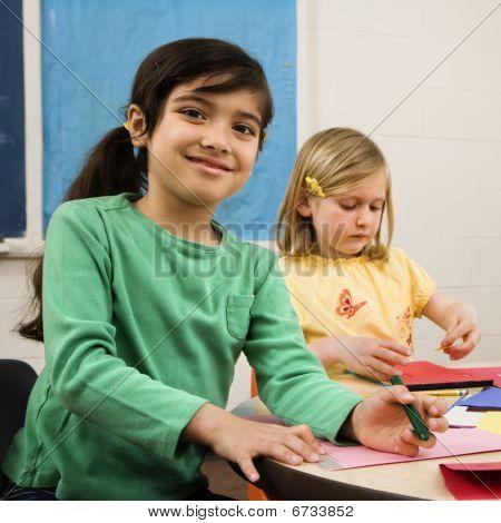 Two Girls In Art Class