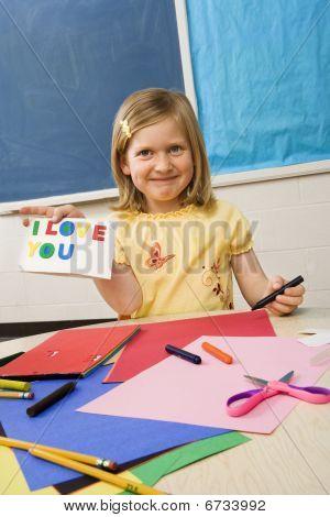 Young Girl In Art Class