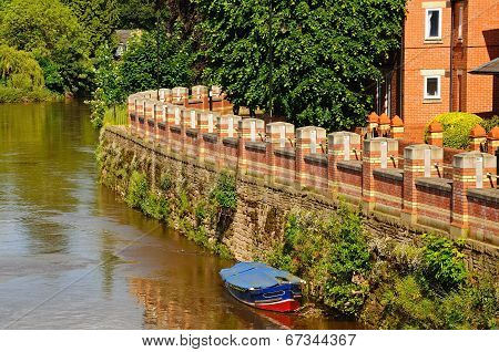 Flood defence barrier, Hereford.