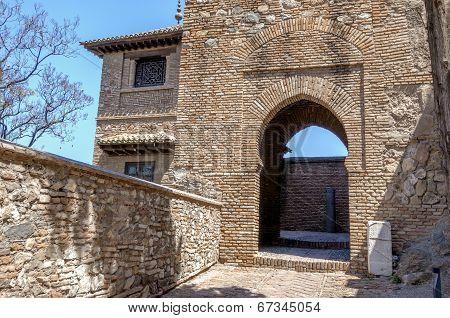 Interior Of The Alcazaba Of Malaga, Spain