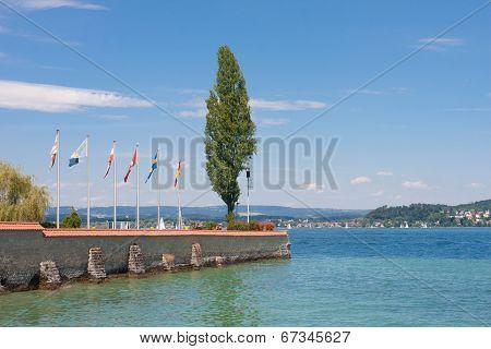 Harbor Of Unteruhldingen At Lake Constance