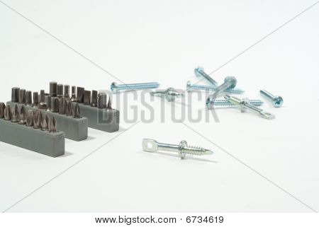Screws set with bits