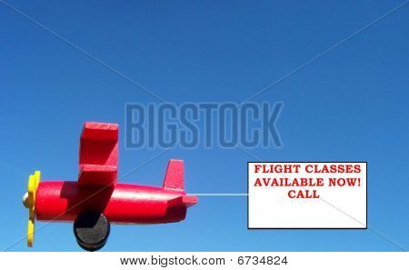 Flight Classes Available Airplane Banner Sign