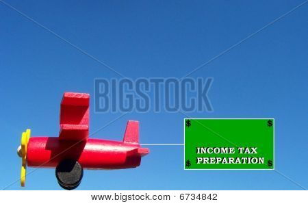 Income Tax Airplane Banner Sign