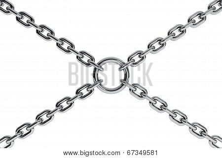 Interlinked Chrome Chains In Cross