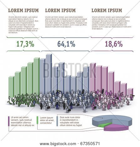 Demography Infographics. Vector template.