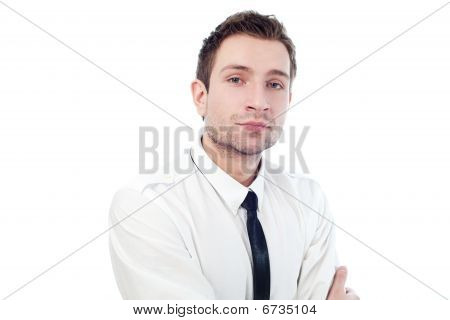 Portrait Of Young confident businessman