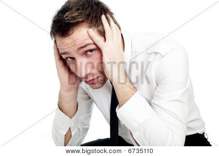 Portrait Of Sad Businessman