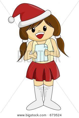 Cute Singing Santarina