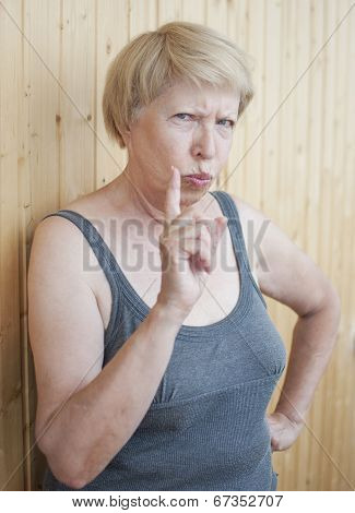Funny Elderly Woman Threatens You Finger