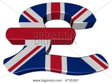British Pound Symbol With Flag