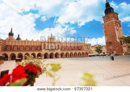 Town Hall Tower on Rynek Glowny in Krakow