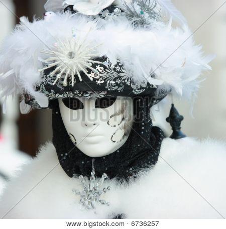 Fluffy Venetian Mask