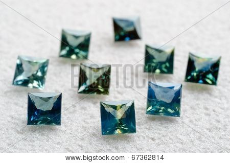 Princess Cut Sapphires