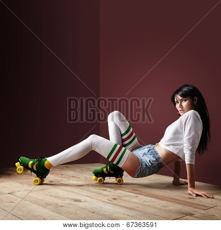 Woman On A Roller Skates