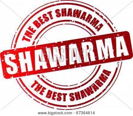 Vector Shawarma Stamp