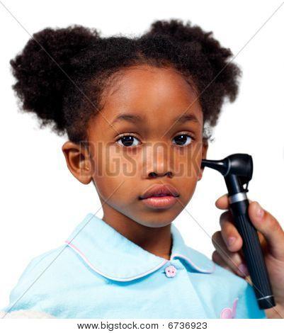 Little Girl Attending Medical Check-up