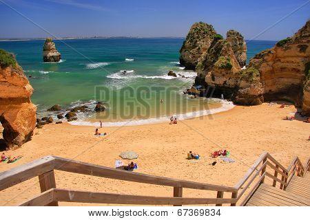Ponta De Piedade Beach In Lagos, Algarve Region, Portugal
