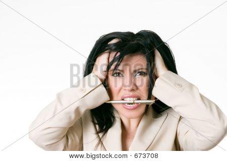Business-Frau frustriert