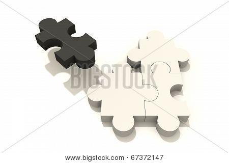 Puzzle one black three white