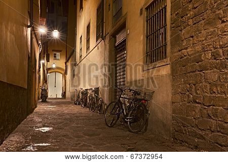 old alley in Florence, Italy