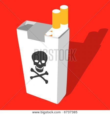 Cigarette Box With Death Symbol