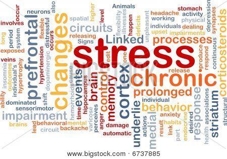 Concepto de fondo de estrés mental