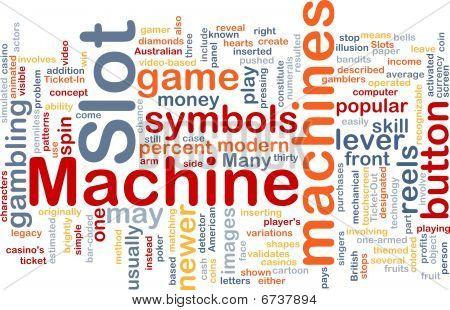 Slot Machine Background Concept