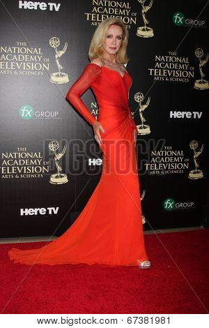 LOS ANGELES - JUN 22:  Donna Mills at the 2014 Daytime Emmy Awards Arrivals at the Beverly Hilton Hotel on June 22, 2014 in Beverly Hills, CA