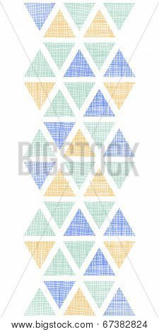 Abstract textile ikat triangles vertical seamless pattern background