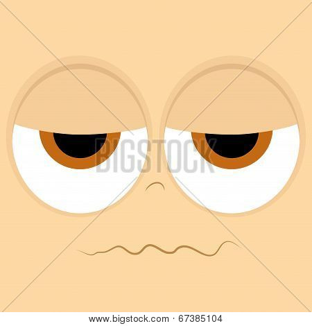 Vector Set Of Different Cartoon Faces Isolated