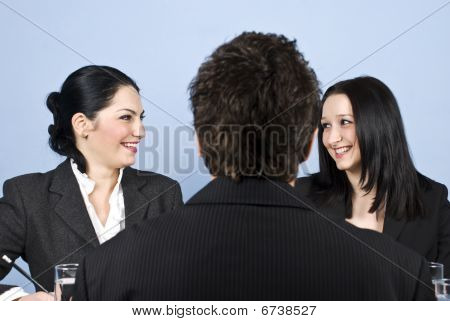 People Laughing At Job Interview