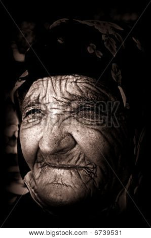 Old Blind Woman