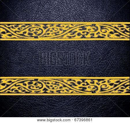 Modern black leather texture