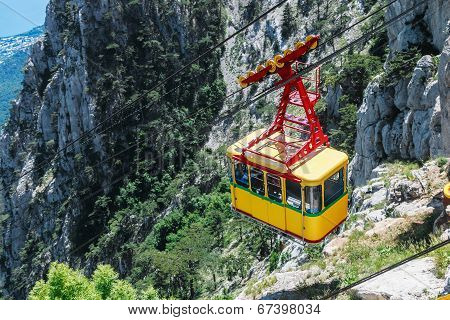 Ropeway In Yalta Leading To The Top Of Ai-petri Mountain, Crimea