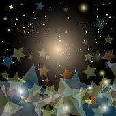 pic of starry sky  - abstract starry night sky  - JPG