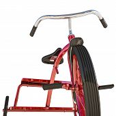 stock photo of tricycle  - illustration of a red tricycle isolated on white background - JPG