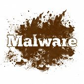 picture of malware  - Dirty Messy Blot with Malware text on it - JPG