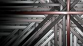 Symmetrical Fractal, Black Light, Diagonal Digital Line poster