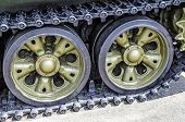 picture of panzer  - Military tank track - JPG