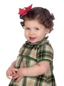 Funny Baby Girl With Red Loop