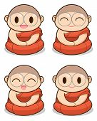 stock photo of cult  - Buddhist Monk illustration  - JPG